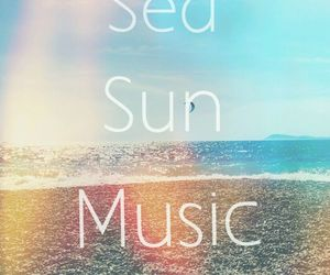music, summer, and sun image