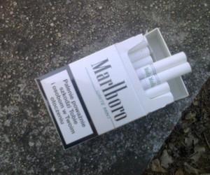 cigarette, smoke, and marlboro image