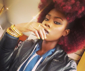 hair, Afro, and pretty image