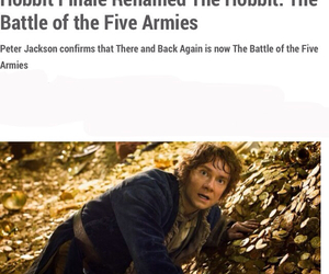 the hobbit, title, and peter jackson image