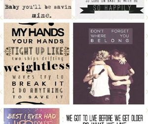 Lyrics and one direction image