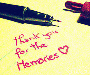 memories, quote, and thank you image