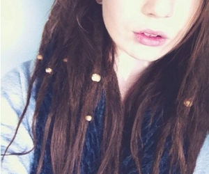 brown, hair, and dreadlock image