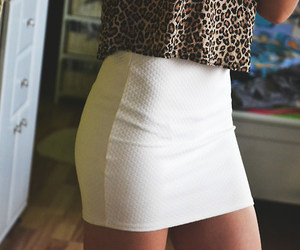 sexy, skirt, and white image
