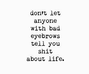 eyebrows, funny, and text image