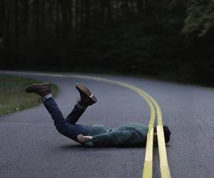 road, boy, and grunge image