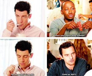funny, schmidt, and new girl image
