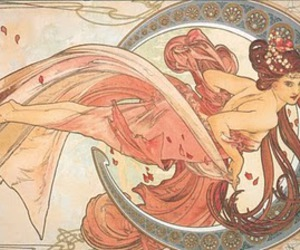Art Nouveau, girl, and spring image