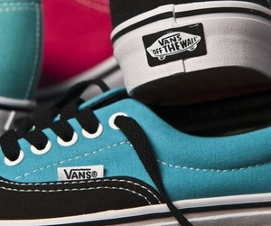 blue, vans, and fashion image