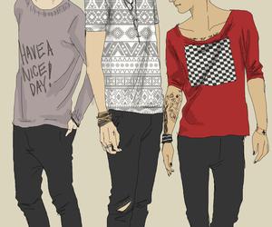 fan art, louis tomlinson, and Harry Styles image