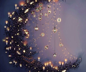 fairy tale, lanterns, and night image