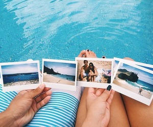 summer, beach, and photo image