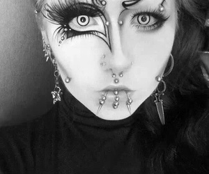 piercing and goth image
