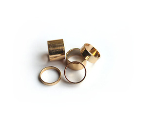 fashion, gold, and rings image