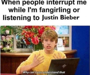 justin bieber, fangirling, and one direction image