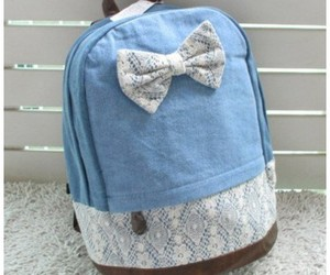 backpack, bag, and bow image