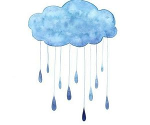 rain, clouds, and blue image