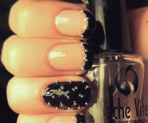 nails, black, and studs image