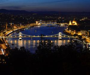 bridge, budapest, and building image