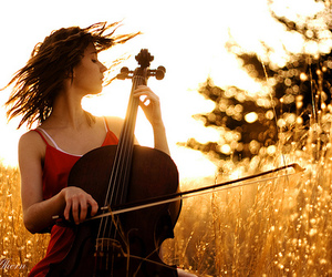 cello, girl, and music image