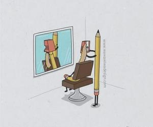 pencil and funny image