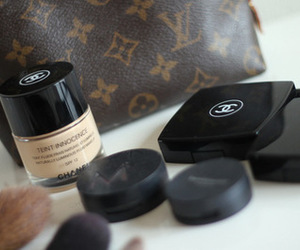 chanel, Louis Vuitton, and makeup image