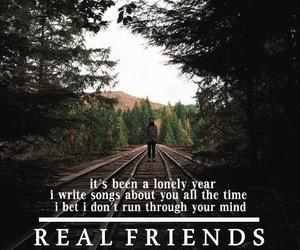 band, Lyrics, and real friends image