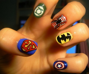 batman, nails, and green lantern image