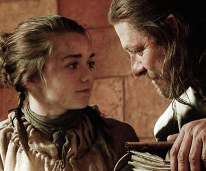 game of thrones, arya stark, and eddard stark image