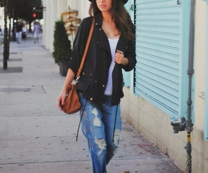 fashion, girl, and ripped jeans image
