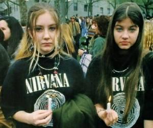 nirvana, grunge, and girl image