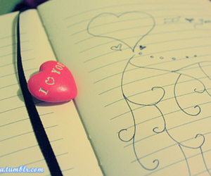 doodle, cute, and love image