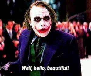 heath ledger, joker, and batman image