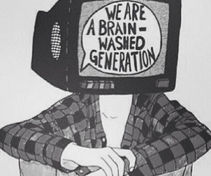 black and white, brain, and generation image
