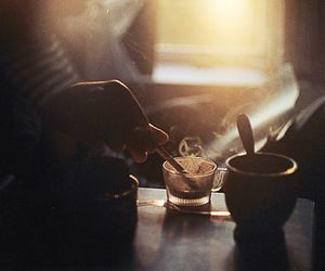 coffee, morning, and cigarette image