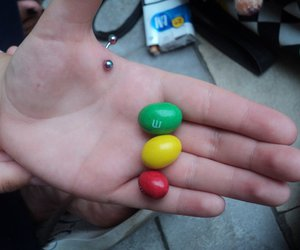 cigarettes, m&m, and piercing image