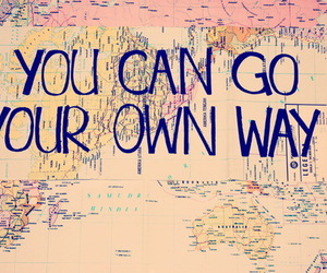 quote, map, and travel image