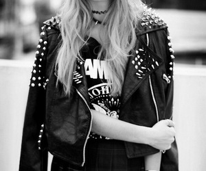rock, black, and outfit image