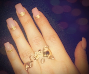 gold, style, and nail image