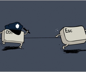 funny, control, and esc image