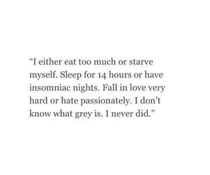 quote, grey, and sad image