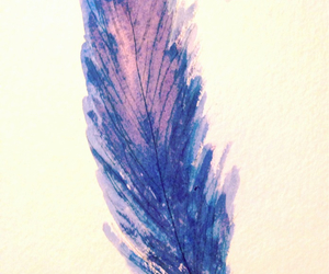 feather and watercolor image