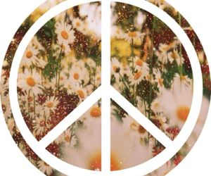 peace, flowers, and love image