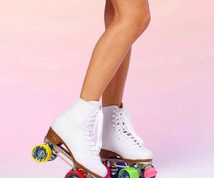 fashion, roller skates, and shoes image