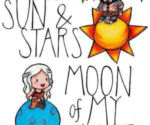 game of thrones, khaleesi, and moon image