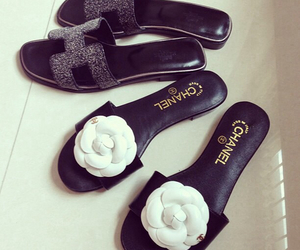 sandals, chanel, and hermes image
