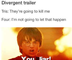 funny, harry potter, and divergent image