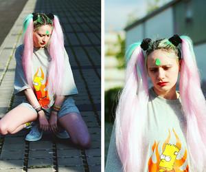 cute girl, long hair, and alternative image