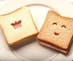 cute, food, and bread image