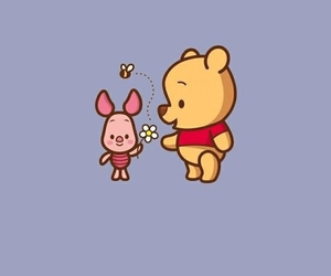 wallpaper, disney, and piglet image